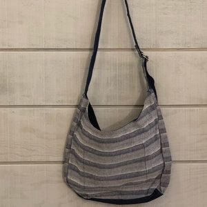 Thirty One Retro Metro Hobo Crossbody Woven Stripe